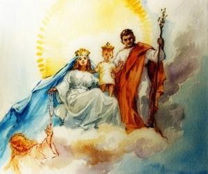 La Santa Famiglia in gloria