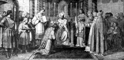 san Bonifacio incorona Pipino il breve