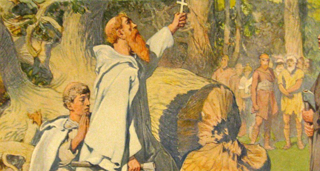 san Bonifacio che predica